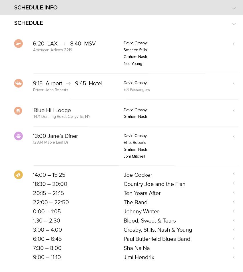 Show teaser schedule